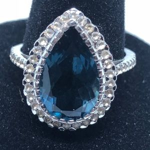 Colleen Lopez London Blue Topaz Sterling Ring